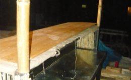 Bar bambusový základní díl zezadu